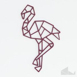 metal flamingo figure